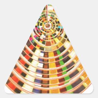 UFO 3D Energy Dome - Wave Spectrum Triangle Sticker