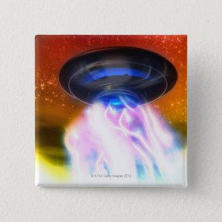 UFO 4 15 CM SQUARE BADGE