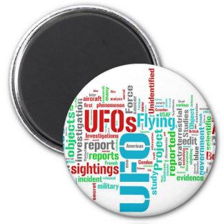 UFO 6 CM ROUND MAGNET