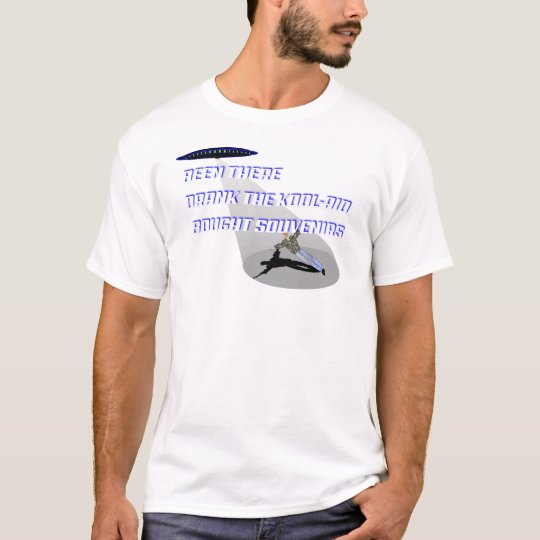 UFO Abduction Blue shadow on white T-Shirt