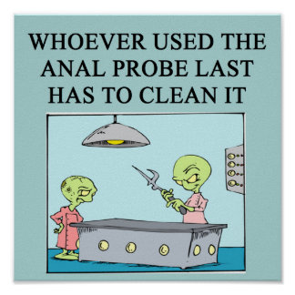 ufo abduction joke print