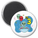 UFO Alien 3rd Birthday Refrigerator Magnet
