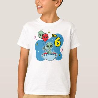 UFO Alien 6th Birthday T-Shirt