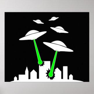 UFO Alien Attack Poster