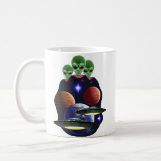 UFO/alien coffee mug
