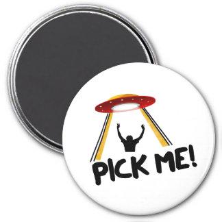 UFO Alien Ship - Pick Me! 7.5 Cm Round Magnet