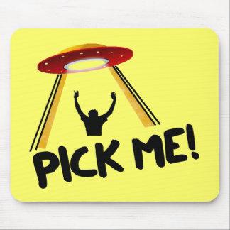 UFO Alien Ship - Pick Me! Mouse Mat