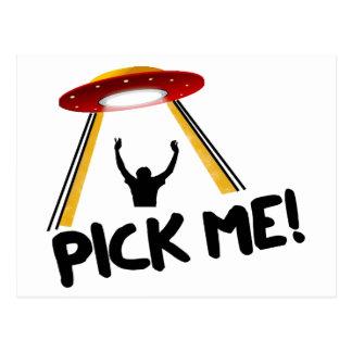 UFO Alien Ship - Pick Me! Postcard