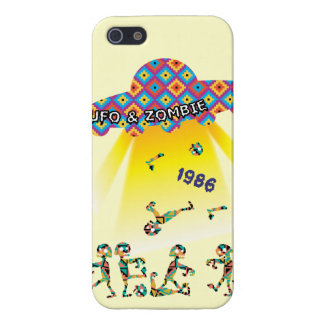 UFO and Zombie Funny Graphic iPhone 5 Case