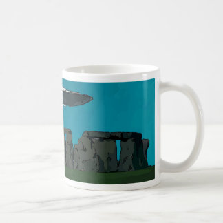 UFO At Stone Henge Coffee Mug