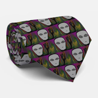 ufo cartoon tie