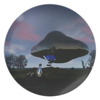 UFO Cattle Mutilation Dinner Plate