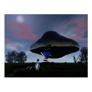 UFO Cattle Mutilation Postcard