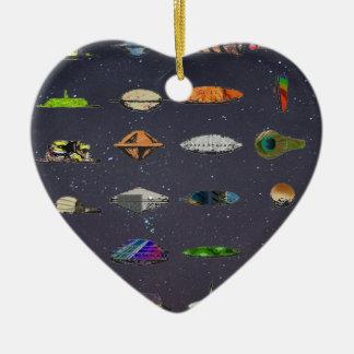 UFO CERAMIC HEART DECORATION