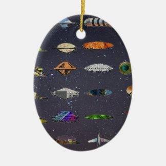 UFO CERAMIC OVAL DECORATION