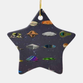 UFO CERAMIC STAR DECORATION