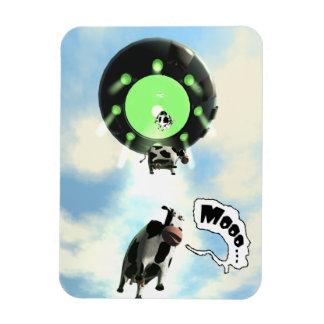 UFO Cow Abduction Vinyl Magnets