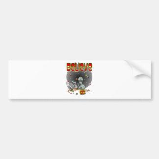 UFO Crash Bumper Sticker