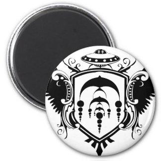 UFO Crest 6 Cm Round Magnet