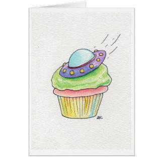 UFO Cupcake Flying Saucer Card