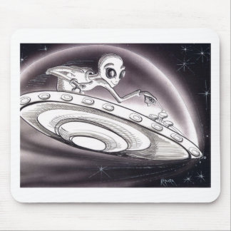 UFO flying Mouse Pad