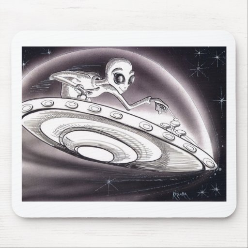 UFO flying Mousepads