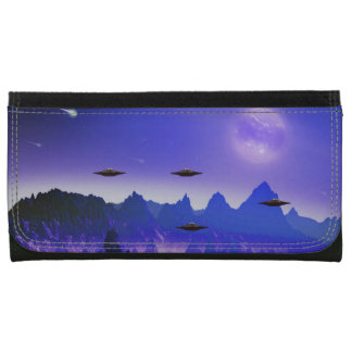 UFO flying object in space Wallets