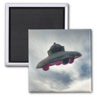 UFO Flying Through Clouds Magnet