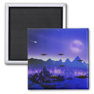 UFO galaxies Square Magnet