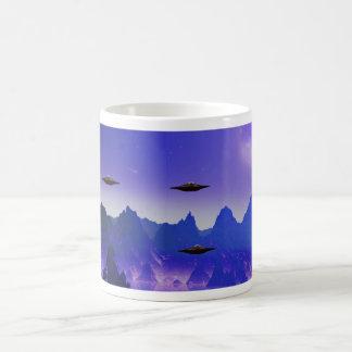 UFO galaxy Coffee Basic White Mug