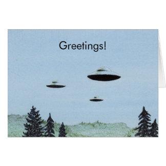 UFO Greetings Card