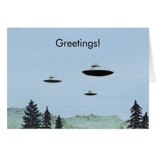 UFO Greetings Card