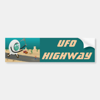 UFO Highway bumper sticker