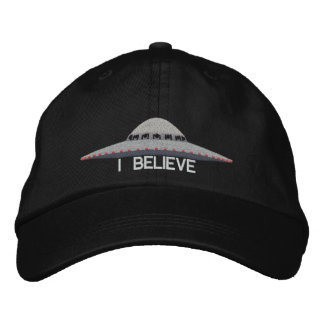 UFO I BELIEVE BASEBALL HAT EMBROIDERED HAT