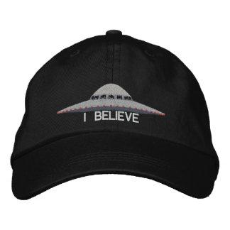UFO I BELIEVE BASEBALL HAT EMBROIDERED HAT