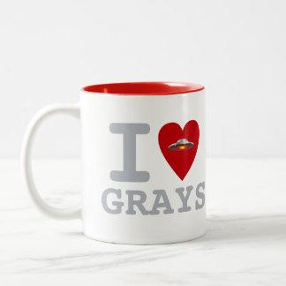 UFO I Heart Grays mug