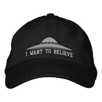UFO I WANT TO BELIEVE BASEBALL HAT EMBROIDERED HAT