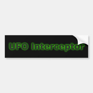 UFO Interceptor Bumper Sticker