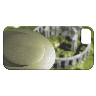 UFO investigating the site of Stonehenge as it Barely There iPhone 5 Case