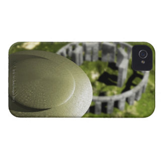 UFO investigating the site of Stonehenge as it iPhone 4 Case
