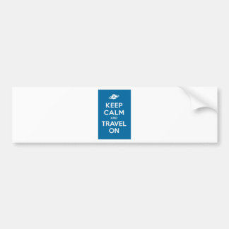 UFO Keep Calm And Travel On Bumper Sticker