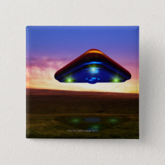 UFO Lights 15 Cm Square Badge
