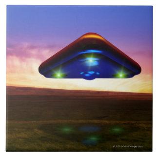 UFO Lights Large Square Tile