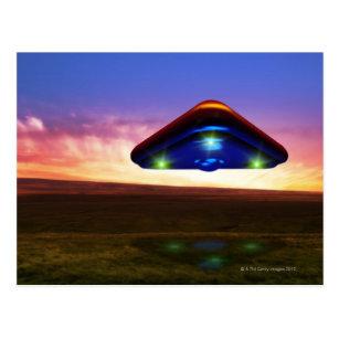 UFO Lights Postcard