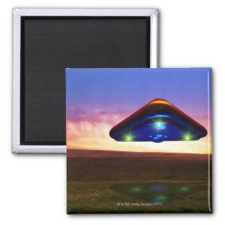 UFO Lights Square Magnet