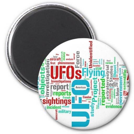 UFO REFRIGERATOR MAGNET