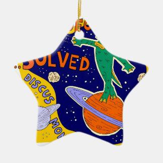 ufo mystery solved ceramic star decoration