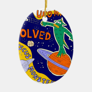 ufo mystery solved christmas ornament