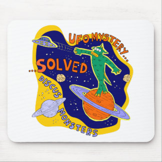 Ufo mystery solved mouse pad