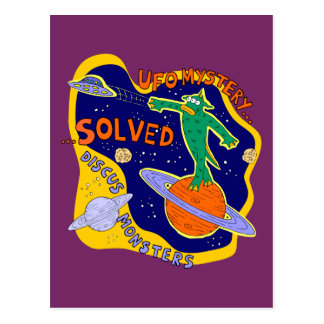 Ufo mystery solved postcard